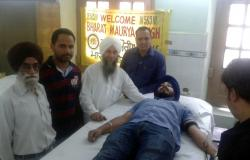 Members donated blood at camp by Bharat Maurya Sangh